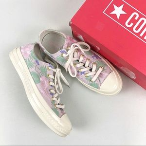 NEW Converse barely rose floral sneakers